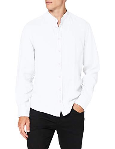 Hackett London Garment Dye Ln PS Camisa, Blanco (802optic White 802), 37 (Talla del fabricante: X-Small) para Hombre