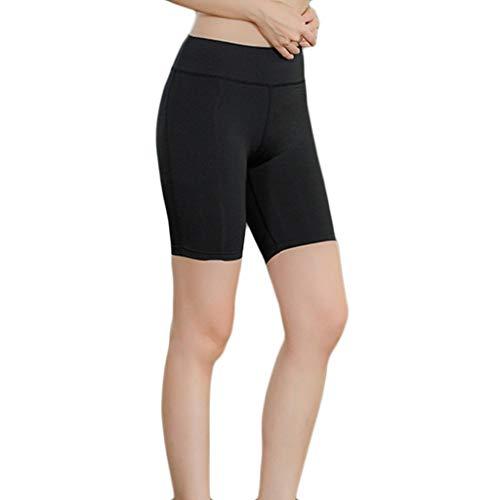 Qiuday Kurze Sporthose Blickdichte Strumpfhose Sport Shorts Damen Jogginghose Leggings Yoga Capri Hohe Taille Yogahose Laufhose Fitnesshose...
