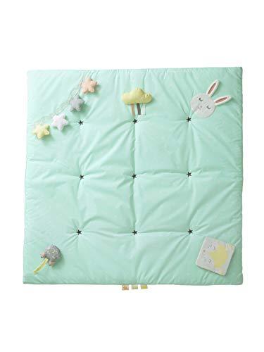 Vertbaudet Activity-Decke Funny Baby für Babys zartgrün Bedruckt ONE Size