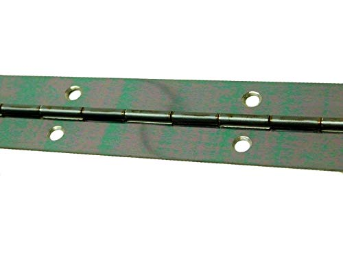 Continuous Piano Steel Hinges - Continuous Piano Hinge Steel Piano Hinge Continuous Hinge Steel Continuous Hinge with Holes 1-1/4' x 40' inch Gloss Black Shine Finish