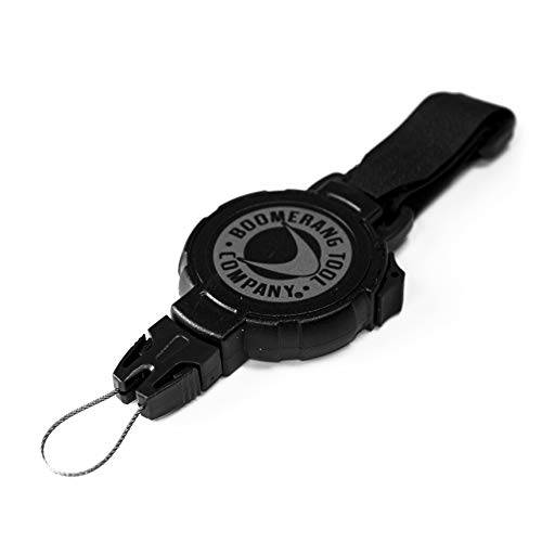 """Boomerang Large Scuba Gear Retractor with Velcro Strap and 48"""" Retractable Cord, 8oz. Retraction, Great for Gauges, Flashlights, Cameras and More!, Black, Large (48"""" / 8oz.) 0TBP-0311"""