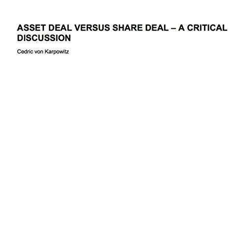 Share Deal versus Asset Deal (English Edition)