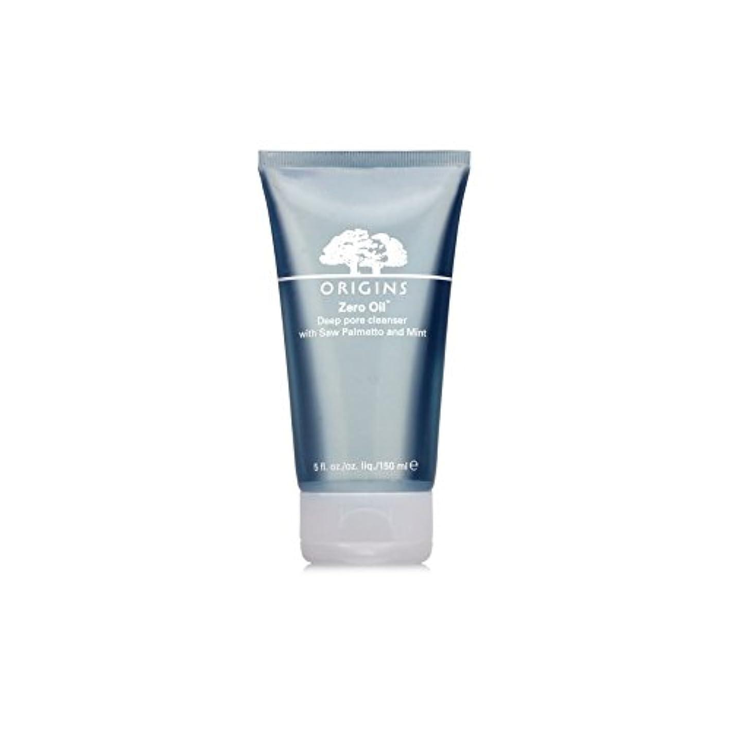 フォーラムサミットカニOrigins Zero Oil Deep Pore Cleanser With Saw Palmetto & Mint 150ml (Pack of 6) - ノコギリヤシ&ミント150ミリリットルとの起源ゼロ油深いポアクレンザー x6 [並行輸入品]
