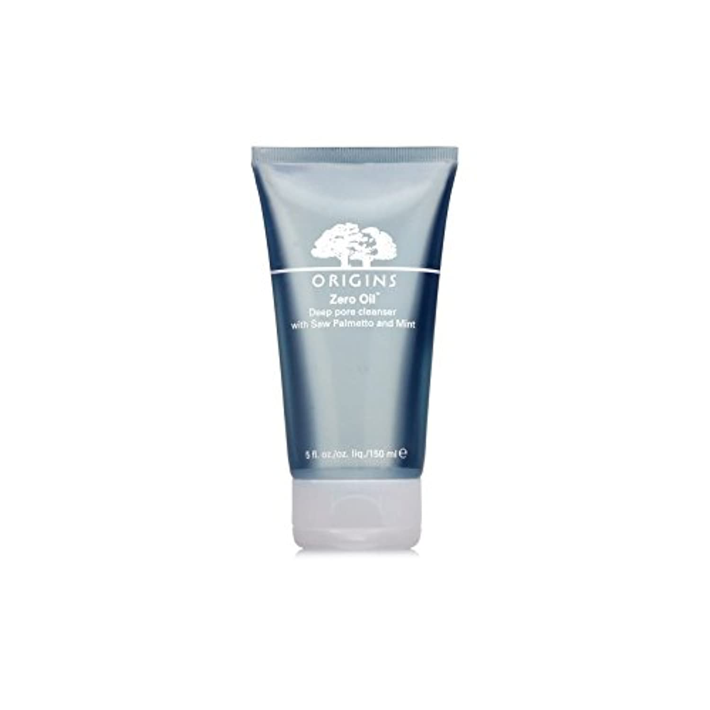 Origins Zero Oil Deep Pore Cleanser With Saw Palmetto & Mint 150ml - ノコギリヤシ&ミント150ミリリットルとの起源ゼロ油深いポアクレンザー [並行輸入品]