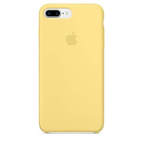 Capa Case Capinha Silicone Aveludado, Iphone 8 Plus, Amarelo