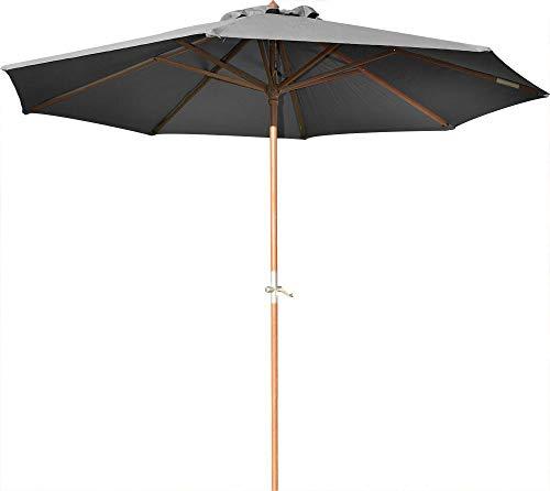 Proloisirs Parasol en Bois 350 cm avec manivelle June