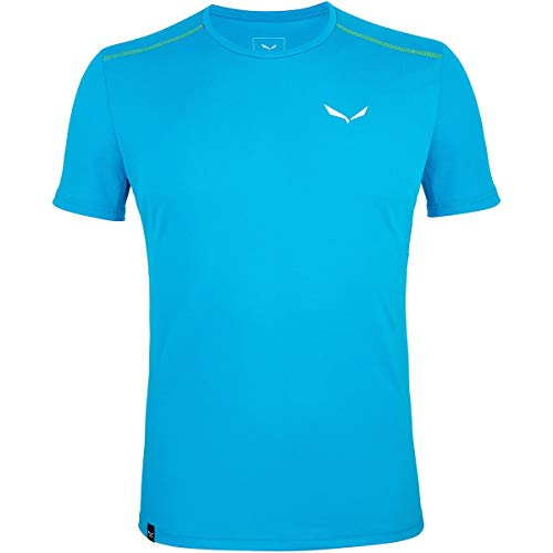 SALEWA Sporty B 4 Dry M S/S Tee T-SHIRT Homme, Blue Danube, FR : 2XL (Taille Fabricant : 54/2X)