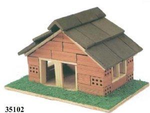 Kit maqueta casa ladrillos Keranova 35102