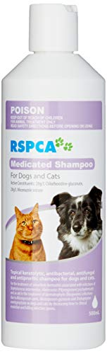 RSPCA Medicated Shampoo for Dogs and Cats 500 ml,