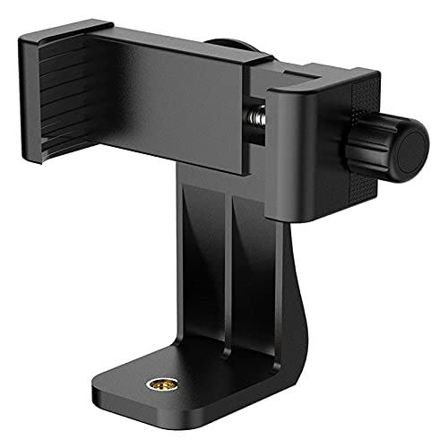 Staright Suporte para tripé de rotação de 360 graus portátil Suporte para suporte de telefone celular Adaptador de suporte de montagem de clipe Suporte de braçadeira universal para smartphone preto