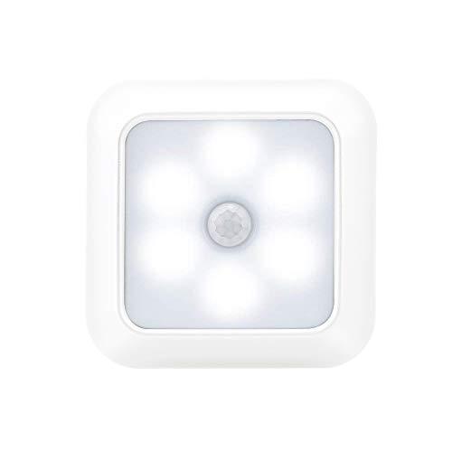 3 luz led de inducción del cuerpo humano sensación la noche iluminación armario linterna inteligente casa detección luz, piezas-blanco carcasa blanca