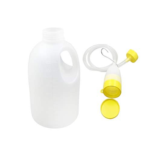 HEALIFTY Orinal portátil para orinar con orinal masculino y tubo de 1700 ml para viajes en auto de acampada