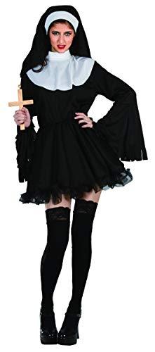 Ciao-Costume Suora esorcista, taglia unica adulto Donna, Nero, 62175