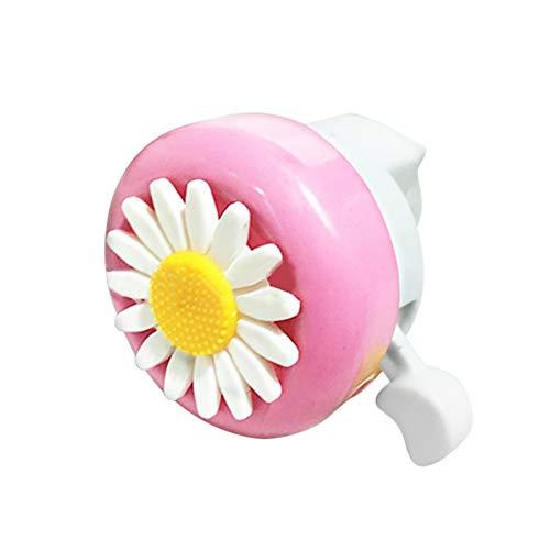 Hustar Erwachsene Kinder Fahrradklingel Fahrradglocke Horn Blume Radfahren Glocke Rosa Weiß