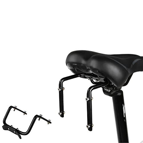 MOVKZACV - Adaptador de portabidón de bicicleta, varilla de sillín de bicicleta trasera, portabotellas, doble portabidón de sillín de bicicleta, adaptador de bastidor (negro)
