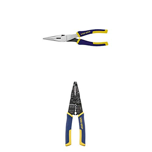 IRWIN VISE-GRIP Long Nose Pliers with Wire Cutter and Multi-Tool Wire Stripper/Crimper/Cutter