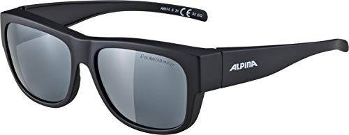 ALPINA Erwachsene Overview II P Outdoorsport-Brille, Black Matt, One Size
