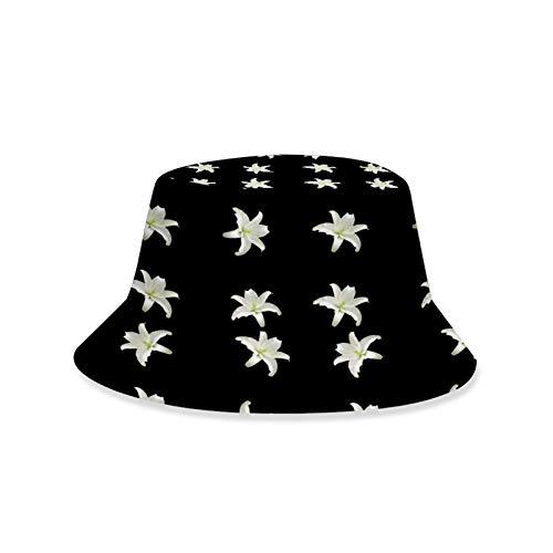 JNXFUZMG Sombrero De Sombrero De Cucharón para Hombres Mujeres Pescador Plegable Sombrero Unisex Impresión 3D Hermosa Flores Playa Hat Sombrero Protección Solar Sombrero Sombrero Tapón Al Aire Libre