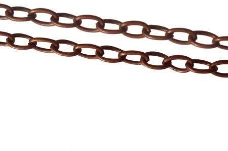 Cadena Sautoir cobre–gruesa malla 4mm–64cm