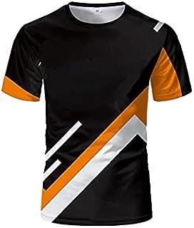 Fbnzmluqdx Tshirt for Men Summer New Outdoor Bicycle Men's T-shirt New Top Short Shirt Sports Fitness Short-sleeved Fashio...