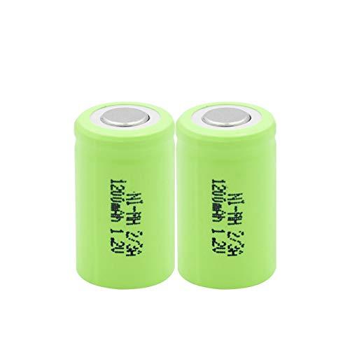 THENAGD Batteria Ricaricabile Ni-MH 1.2v 1200mah, per Torcia a LED Batteria Portatile Videocamera Giocattolo Spazzolino da Denti Rc 2pcs