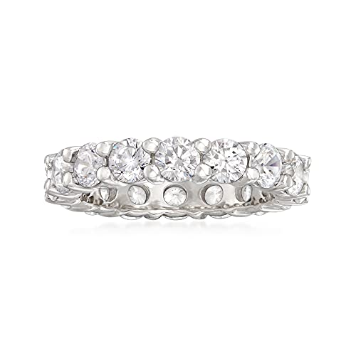 Ross-Simons 3.60 ct. t.w. CZ Eternity Band in Sterling Silver. Size 7