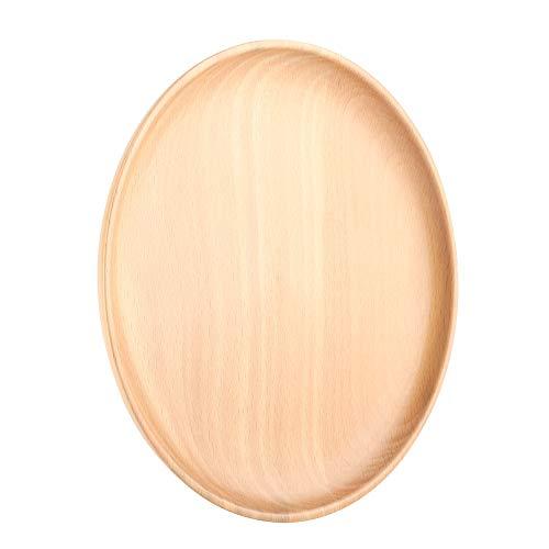 Buchenholzplatten, umweltfreundliche Buchenholz-Rundschalen-Fruchtsnack-Süßigkeiten-Dessertteller für den täglichen Gebrauch oder Geschenke