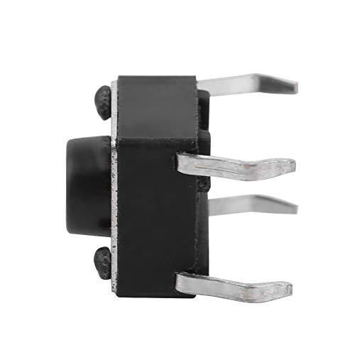 Weikeya Interruptor de tacto simple, mecanismo de precisión de vida útil, diseño de interruptor de tachuela momentáneo, surtido de plástico