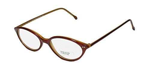 United Colors Of Benetton 350 For Ladies/Women/Girls Cat Eye Shape Durable TIGHT FIT Eyeglasses/Spectacles (46-16-135, Havana Cream)