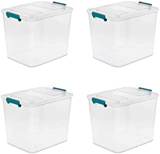 Sterilite 24 qt Modular Latch Box, Teal Sachet (Available in Case of 4)