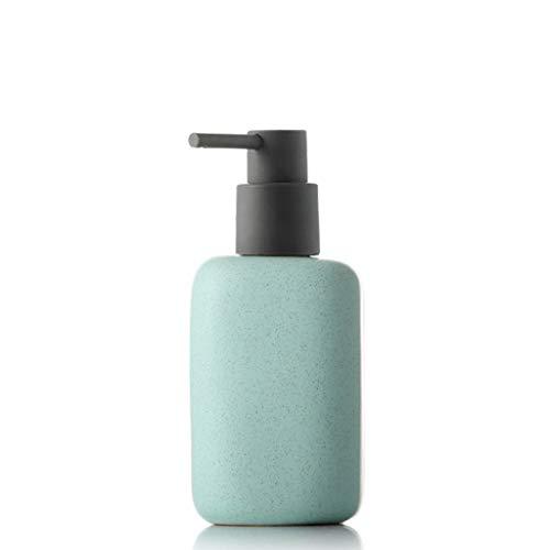WYHM Dispensador de jabón de cerámica Mano Champú de Ducha Gel de Ducha Prensa Botella vacía Estilo nórdico para baño de baño (Color : Green, tamaño : Medium)