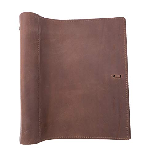 Leather Binder Handmade by Rustico in The USA, Top-Grain, Professional, Soft, Standard 3 Ring Spine, 1.5 Inch Rings, Organizer, Planner, Store Important Documents