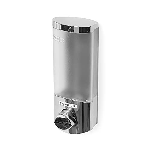Compactor Dispensador de jabón de pared, Color cromado, Tamaño 7.5 x 8 x 19.5 cm, RAN6014