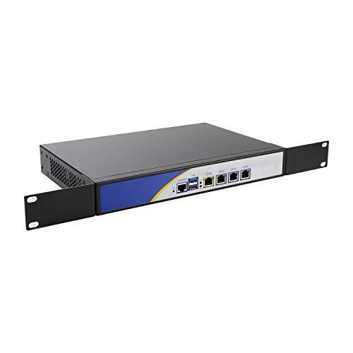 HUNSN Firewall,Mikrotik,Pfsense,VPN,Network Security Appliance,Router PC,Intel Quad Core N3540,RS32,4 Intel Gigabit LAN/2USB/COM/VGA/Fanless/2 Reserved Fan,(4G RAM/64G SSD)