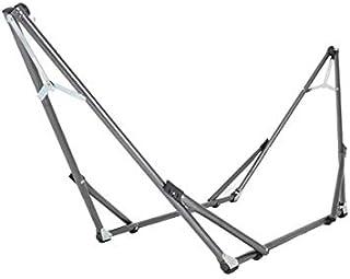 Acero inoxidable soporte de hamaca plegable. Jardín interior y exterior para tumbona Swing silla y cama (acero inoxidable)–capacidad 140kg