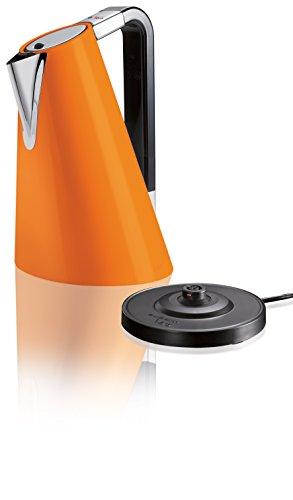 BUGATTI, Vera Easy Bouilloire électrique avec filtre anticalcaire amovible, capacité 1,75 litres, 2180 W, corps en acier inoxydable, couleur orange