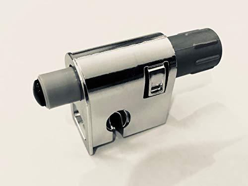 PIN Ammortizzatore per sportelli/mobili, in plastica ABS alluminata, set da 6