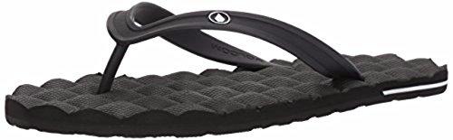 Volcom Men's Recliner Rubber 2 Sandal FLIP Flop, Black, 8 M US