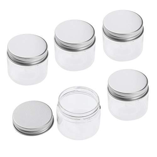 freneci Botellas de Viaje Portátiles Vacías para Crema Facial, Pastillas, Mentas, Bálsamos de Hierbas - 40ml, Individual