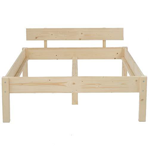 TUGA Holztech Naturprodukt MASSIVHOLZBETT DAYBETT MASSIV HOLZ BETT HOLZBETT FSC 300Kg 200 x 220cm unbehandelt EXTRA HÖHE 58cm