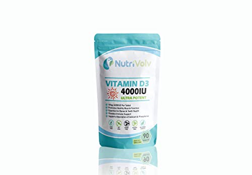 Vitamin D3 4000IU | 90 Tablets | High Strength | Immune and Bone Support