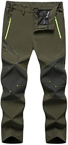 TACVASEN Outdoor Hosen Herren Sommer Wanderhose Atmungsaktive Jagdhosen für Männer Campinghosen Schnelltrocknende Hiking Trekking Hose Kletterhose Gebirgshose mit Zip Pockets Grün Green