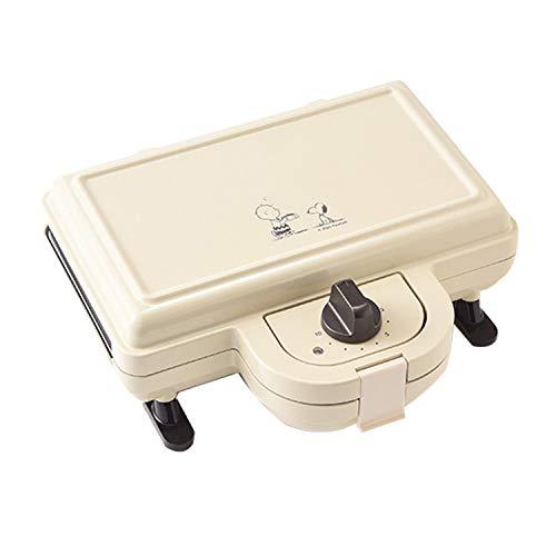 L&B-MR Home Frühstücksmaschine Snoopy Co-Branding Light Food Maschine Home Frühstücksmaschine Toast Sandwich Maschine Waffel, Antihaft-Teller, Cool Touch Griff