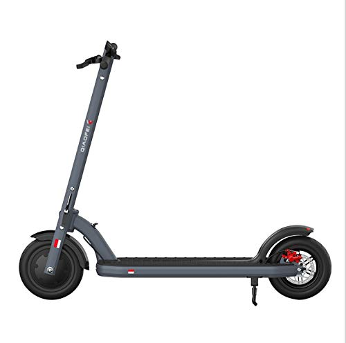 Woodtree Scooters eléctricos Aficionados Adultos Scooter Plegable de Dos a Medida Scooter eléctrico (Color : Black)
