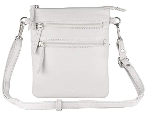 Leather Crossbody Purses and Handbags for Women-Premium Crossover Bag Over the Shoulder Womens (ICE GREY)
