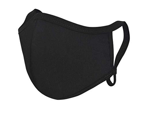 made2trade® Atmungsaktiv - Ideal für den Sommer - Waschbar - Größenverstellbar - Eco Mund-und Nasen-Bedeckung - Made by Eliware - Gr. L - Schwarz - 4er Pack