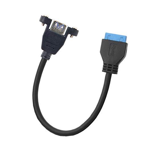 Cablecc Cable USB 3.0 de un solo puerto A hembra de rosca...