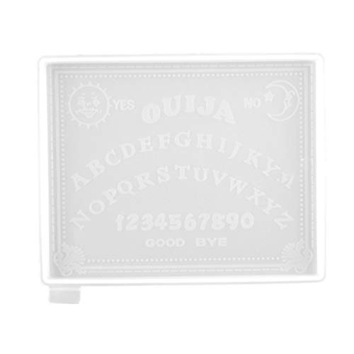 EXCEART Ouija Board Prancheta Resina Moldes Molde de Silicone Molde de Adivinhação Gótico Moldes de Fundição De Resina Epóxi para O Jogo de Tabuleiro de Ouija Fazer Jóias DIY Chaveiro