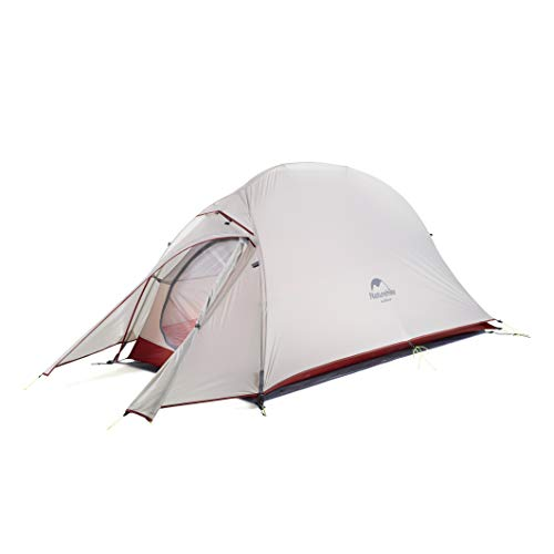Naturehike Cloud-up Ultraleichte 1 Personen Single Zelt 3-4 Saison Camping Zelt (20D Grau Upgrade)