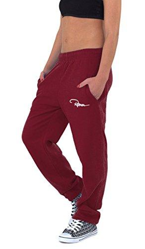 REDRUM Plain Sweatpants Jogger Pants Jogginghose Baumwolle Weinrot Rot Bordeaux (5XL)